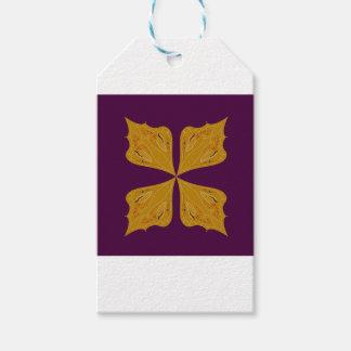 Étiquettes-cadeau Mandala d'or sur le vin