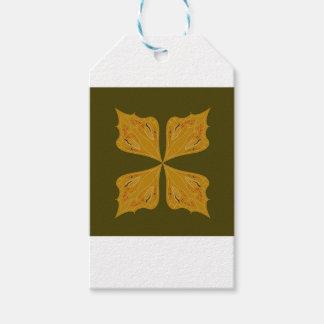 Étiquettes-cadeau Mandala d'or sur l'olive