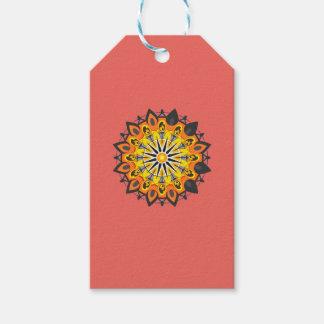 Étiquettes-cadeau Mandala-Jaune