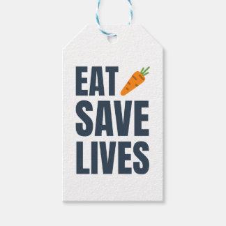 Étiquettes-cadeau Mangez le végétalien - les vies d'économies