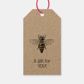 Étiquettes-cadeau Manteau de l'abeille #2 des bras vintage