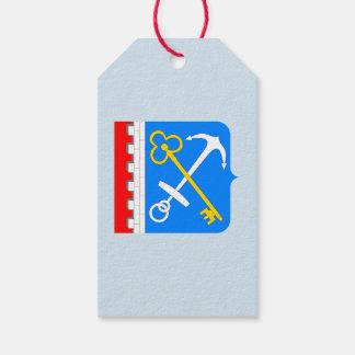 Étiquettes-cadeau Manteau des bras de l'oblast de Léningrad