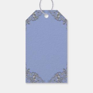 Étiquettes-cadeau Mariage élégant de remous d'effet de bleu et en