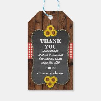 Étiquettes-cadeau Mariage en bois de faveur d'étiquette de Merci de