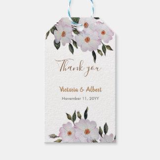 Étiquettes-cadeau Mariage floral d'art de ballerine rose de roses