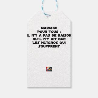 Étiquettes-cadeau Mariage pour Tous : il n'y a pas de raison qu'il