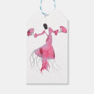 Étiquettes-cadeau Méduses de flamenco - Sabrina