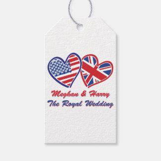 Étiquettes-cadeau Meghan et Harry le mariage royal