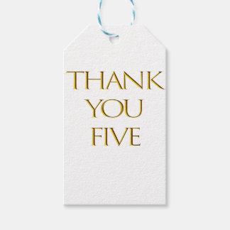 Étiquettes-cadeau Merci cinq !