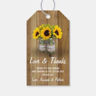 Étiquettes-cadeau Merci de mariage de dentelle de toile de jute de