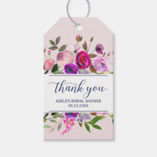 Étiquettes-cadeau Merci romantique de jardin
