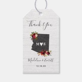 Étiquettes-cadeau Merci rustique de mariage de destination d'état de