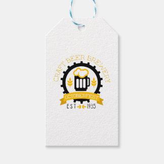 Étiquettes-cadeau Modèle de conception de logo de bière avec la
