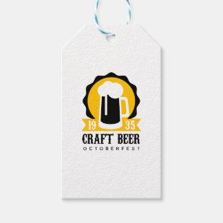 Étiquettes-cadeau Modèle de conception de logo de bière de métier