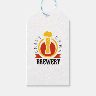 Étiquettes-cadeau Modèle de conception de logo de brasserie de bière