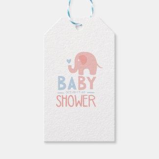 Étiquettes-cadeau Modèle de conception d'invitation de baby shower