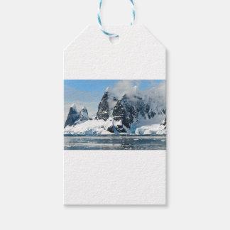 Étiquettes-cadeau Montagnes de neige de Noël
