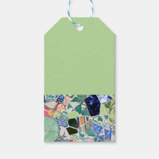 Étiquettes-cadeau Mosaïques de Guell de parc