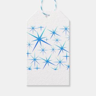Étiquettes-cadeau Motif bleu de flocon de neige