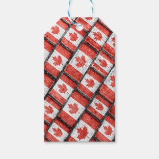 Étiquettes-cadeau Motif canadien de motif de drapeau