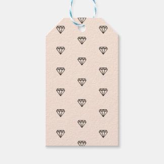 Étiquettes-cadeau Motif chic mignon de rose de diamant