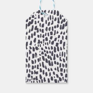 Étiquettes-cadeau Motif de course de brosse de léopard
