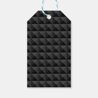 Étiquettes-cadeau Motif géométrique moderne de carré noir