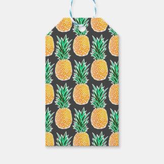 Étiquettes-cadeau Motif géométrique tropical d'ananas