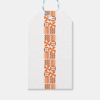 Étiquettes-cadeau Motif orange de Khanga
