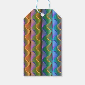 Étiquettes-cadeau Motif psychédélique coloré lumineux