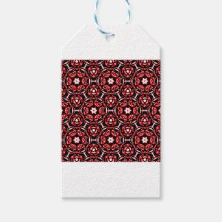 Étiquettes-cadeau Motif rouge de bandanna