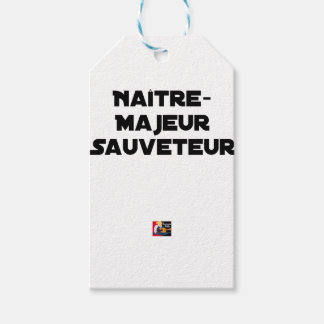 Étiquettes-cadeau Naître Majeur Sauveteur - Jeux de Mots