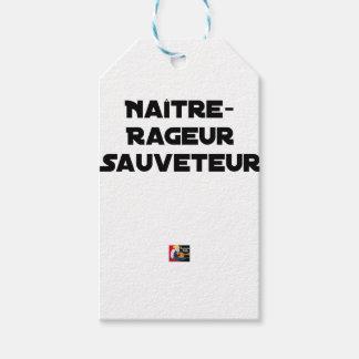 Étiquettes-cadeau NAÎTRE RAGEUR SAUVETEUR - Jeux de mots