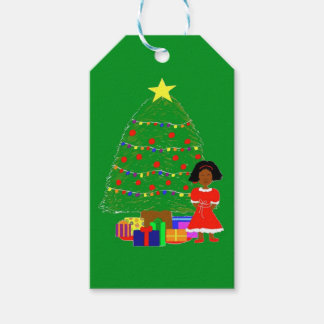 Étiquettes-cadeau Noël de Cutie de cacao Arbre-Vert