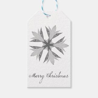 Étiquettes-cadeau Noël de fleur de kaléidoscope Joyeux