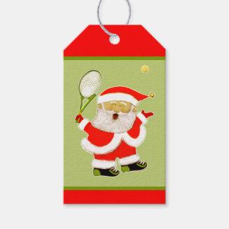Étiquettes-cadeau Noël de tennis