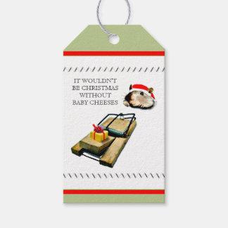 Étiquettes-cadeau Noël drôle