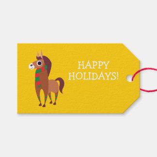 Étiquettes-cadeau Noël Zora le cheval