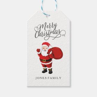 Étiquettes-cadeau Nom de famille 2017 du père noël de Joyeux Noël