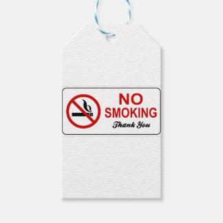 Étiquettes-cadeau non-fumeurs