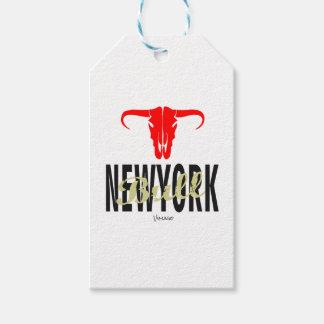 Étiquettes-cadeau NYC New York City Taureau par VIMAGO
