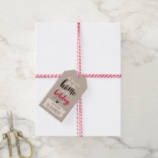 """Étiquettes-cadeau Oiseaux de Noël """"à la maison pour les vacances"""""""