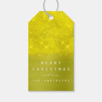 Étiquettes-cadeau Olive Canar de menthe de jaune d'étiquette de