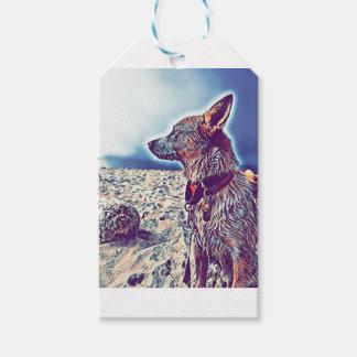 Étiquettes-cadeau Opale le bon à rien Heeler de plage
