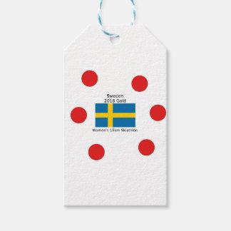 Étiquettes-cadeau Or 2018 de la Suède - 15km Skiathlon des femmes