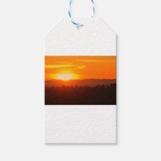Étiquettes-cadeau Orange orange Sun de ciel de Hollywood Los Angeles