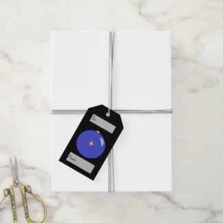 Étiquettes-cadeau Ornement de bleu de Joyeux Noël