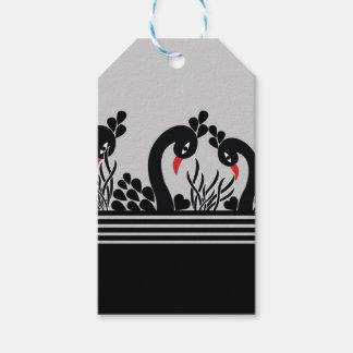 Étiquettes-cadeau paon noir