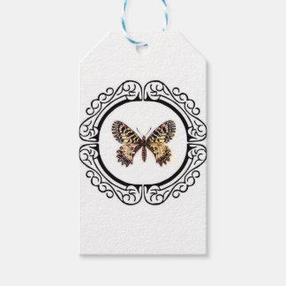 Étiquettes-cadeau papillon bagué repéré