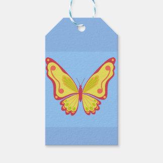 Étiquettes-cadeau Papillon de jour